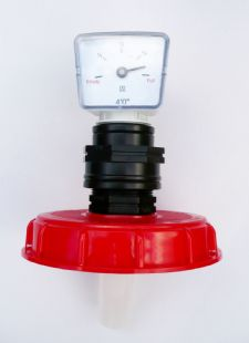 "Tank Top Fill Cap (6"" Coarse Thread) with Float Level Gauge. Oil Tanks, IBC"